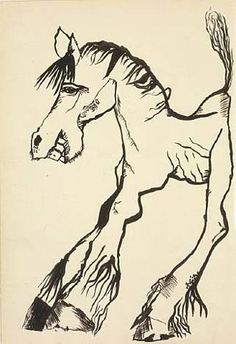 Lucian Freud - Horse Smiling