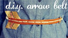 DIY arrow belt...must have for the hunger games premiere!!!! OMG!!