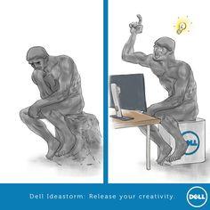 Wat als Rodin een Dell had gehad? Lekker inhaken met 'de denker'.   Fighter: Lewizzart  Brand: Dell