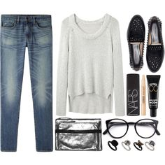 casual by rosiee22 on Polyvore featuring polyvore fashion style rag & bone/JEAN 6397 Zara MM6 Maison Margiela Topshop STELLA McCARTNEY NARS Cosmetics Clinique CC