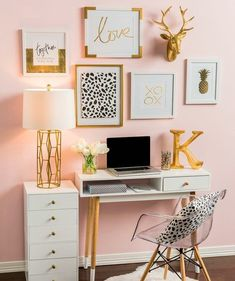 Glam Up Your Small Office Or Cubicle! | Faking Fancy