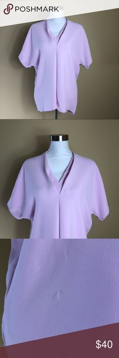 Vince Blouse Size S Pink Popover Top Shirt V-neck • Brand:Vince  • Size:S • Material: See picture of tag in photos • Previously owned, excellent used condition. There is one small pull on the front of blouse that I have not attempted to trim   • Length 28 Bust 44  • Other info: vneck popover blouse  •Inventory id:917 Vince Tops Blouses