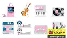 Icon set - Audio - Zizaza item for free