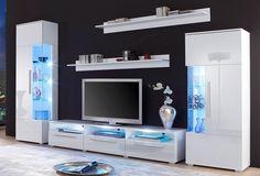 Spar-Set: Wohnwand - New Sites Living Room Wall Units, Cute Living Room, Living Room Tv Unit Designs, Interior Design Living Room, Modern Tv Room, Modern Tv Wall Units, Tv Cabinet Design, Tv Wall Design, Tv Wanddekor