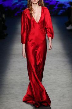 Long Flowing V-Neck Dress - FALL WINTER 2016 ALBERTA FERRETTI - in preorder on www.PRECOUTURE.com