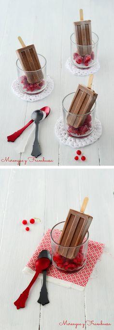 Polos de chocolate y vainilla