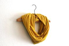 mustard infinity scarves | Yellow Infinity Scarf - Mustard Yellow Scarves - Loop Scarf Infinity ...