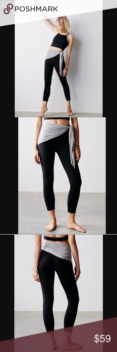 NWOT Free People Movement Dance Fever Legging Brand new without tags! American made workout leggings in a natural cotton blend and a classic stretchy fit. Picot Performance wrap at the waist, featuring an adjustable tie closure. By FP Movement One of 9 exclusive, in-house labels. Yoga. Dance. Surf. Run. Find what moves you. 92% Cotton. Color: black Free People Pants Leggings