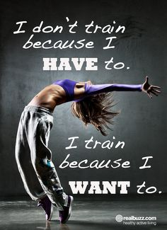 Inspiring and motivational training quote.
