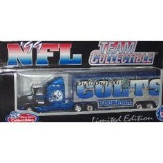 Indianapolis Colts 1999 NFL White Rose Diecast Kenworth Tractor Trailer 1/80 Scale Truck Collectible Team Car Football by NFL  $14.79