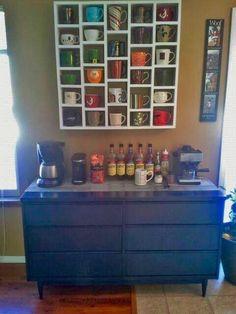Home Coffee Bar idea. Love this!