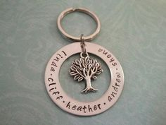 Fathers day Beautiful Hand Stamped Key Chain to by preciouscharms
