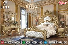 Unique Style Tempat Tidur Mewah Jepara Golden Relief New Epic Design MMJ-0809