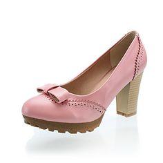 Leatherette Women's Chunky Heel Heels Pumps/Heels Shoes (More Colors) – USD $ 21.74