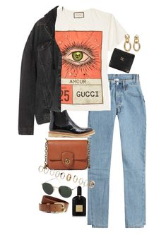 A fashion look created by nikkaphillips featuring Leather wallet, Rings, Levi's Oversized Distressed Hooded Denim Jacket - Black, Belt. Browse and shop related looks. Mode Outfits, Retro Outfits, Cute Casual Outfits, New Outfits, Chic Outfits, Vintage Outfits, Fashion Outfits, Look Fashion, Korean Fashion