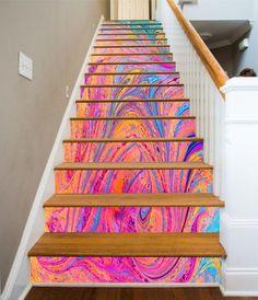 show original title Details about  /3d Abstract Geometry 15 Tiles Marble stair risers Vinyl Wallpaper Photo Wallpaper DE