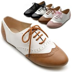 New Womens Shoes Classics Dress Lace Ups Oxfords Flats Low Heels Multi Colored #ollio #Oxfords
