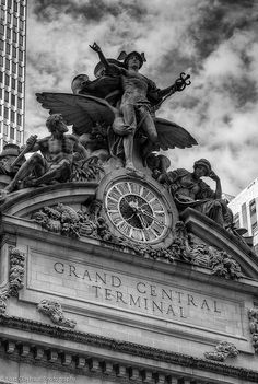 The entrance to Grand Central Station.