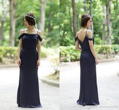 2020 Modest Country Navy Blue Bridesmaid Prom Evening Dresses Chiffon Cold Shoulder Open Back Cheap Wedding Party Bridesmaid Dress Cheap Olive Green Bridesmaid Dresses Online Bridesmaid Dresses From Stunningdress88, $61.06| DHgate.Com Olive Green Bridesmaid Dresses, Navy Blue Bridesmaids, Bridesmaid Dresses Online, Wedding Dresses, Chiffon Evening Dresses, Chiffon Dress, Modest Dresses, Blue Dresses, Stunning Dresses