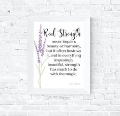 Printable quote, Printable poster, Wall art, Wall decor, Office wall decor, Gift, Inspirational, Real Strength by FelineNineDesigns on Etsy Office Wall Decor, Office Walls, Speech Room, Home Printers, Online Print Shop, Printable Quotes, Free Quotes, Poster Wall, Marketing And Advertising