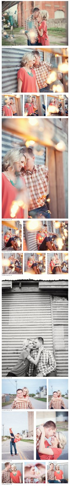 Couple session with Christmas Lights!  julesphotodesign.com