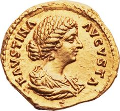 Ancients:Roman Imperial, Ancients: Faustina Junior, wife of Marcus Aurelius (Augusta, AD147-175). AV aureus (21mm, 7.27 gm, 12h).... Image #...