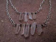 Two Tiered Quartz ( master healer harmony spirit realm meditation) necklace