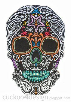 DIY Halloween Mexican skull wall art |Cuckoo 4 Design