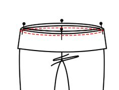 Adding a yoga waistband to pants