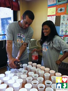 NBA volunteers know how to host a good party!