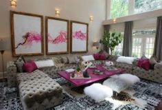 Kandi Burress from RHOA - one of my favorite housewives........she has a living room to die for!  That couch!!!!!  mdb