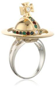 Vivienne Westwood New Orb Poison Ring, Size 6