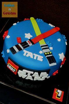 Star Wars Lightsaber Lego cake