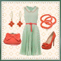 Mint Green and Tangerine