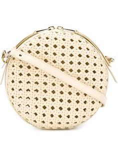 woven round crossbody bag $420 #Farfetch #fashion! #WomensClothing