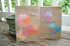 Lunch Bag Art {Craft Camp}