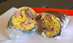 Barbecue Brisket Mac & Cheese Burrito from Ray's BBQ in Los Angeles