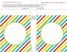 Printable Banners Templates Free | banner-squares-big-dots-sesame ...