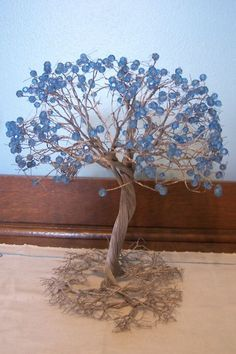 beaded wire tree | VINTAGE 1970's TWISTED WIRE BEADED TREE OF LIFE SCULPTURE MID CENTURY