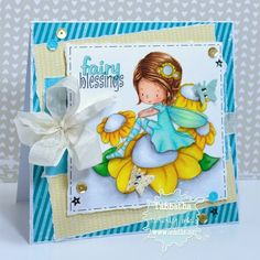 Fabulous Friday with Fairy Blessings | The Zadis Project #tiddlyinks #cardmaking #copicmarkers