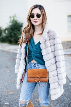 Stylewich by Elizabeth Lee, Fashion Blogger, Outfit Ideas, Style Inspiration, Winter Fashion, Chloe Faye Bag, Isabel Marant Robby Boots, Faux Fur Coat
