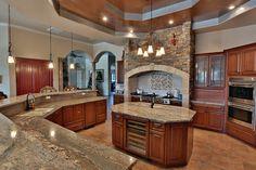 Crema Bordeaux Granite Counter Tops traditional kitchen