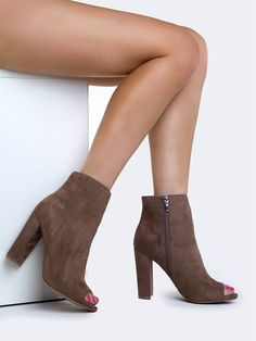 - For extra sex appeal zip up these peep toe booties that will lengthen your…
