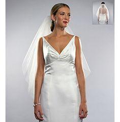 Wedding Veil | Nina Bridal Kate Two-Tier Elbow Length Veil available at @Boston Store.
