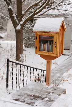 Take a book, Leave a book.    @Courtney Bowlby   ... you should do this!