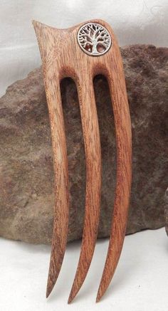 *tree of life* wooden hair fork <3
