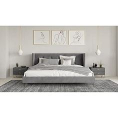 Grey And Gold Bedroom, Light Gray Bedroom, Modern Master Bedroom, Grey Room, Gray Bedroom Decor, Grey Bedroom Walls, Grey Carpet Bedroom, Grey Bedroom Design, Modern Minimalist Bedroom