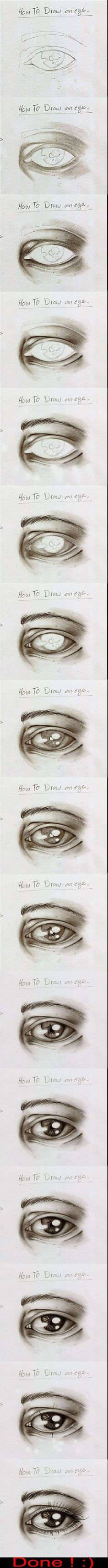 How To Draw an Eye by ~Simiko (I tried it and it turned out really well, thank you..)
