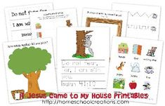 J is for Jesus, If Jesus Came to My House Printables