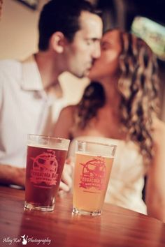 Engagement photo Pensacola bay brewery alleykat photography